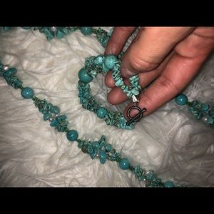 Authentic turquoise Set of bracelet and necklace